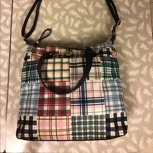 Tommy Hilfiger Multi Colour Plaid Shoulder Bag